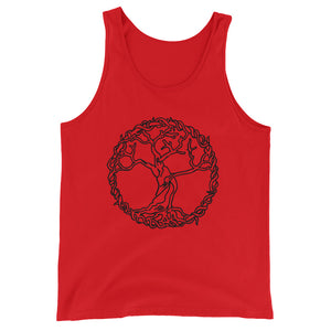 Original Art Tree of Life Connection Tank for Men or Woman - BlackTreeBlueRaven