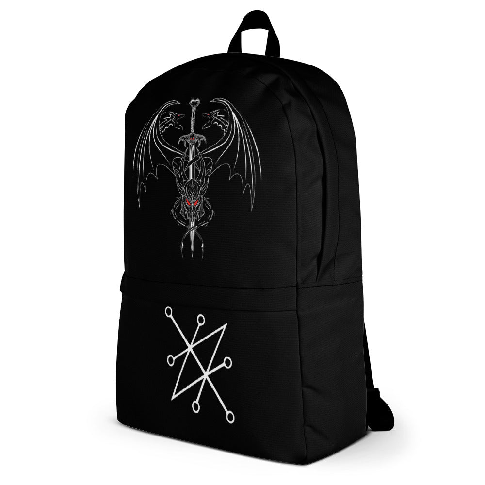 Azazel Warrior Sword Sigil Black Magick Backpack
