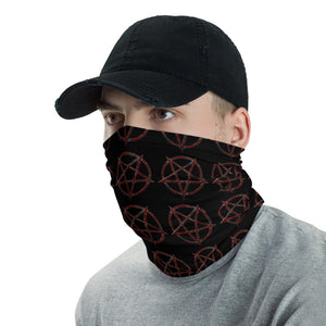 Inverse Pentagram Washable Face Mask Cover Chargeable Neck gaiter