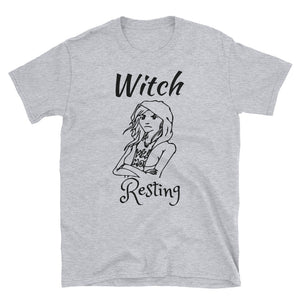 """Witch Resting"" Regular Style Tee Unisex - BlackTreeBlueRaven"