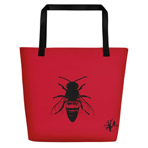 Necronomicon Beach Bag Sized Sigil and Bee - BlackTreeBlueRaven