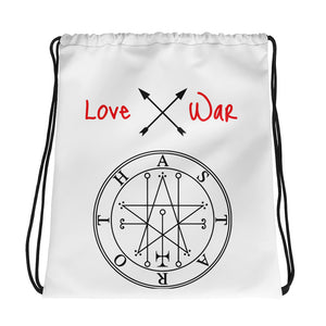 Seal  of Astaroth Drawstring Bag, of Love and War - BlackTreeBlueRaven
