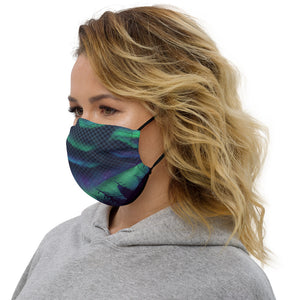 Aura Borealis Forest Reality Grid Face mask