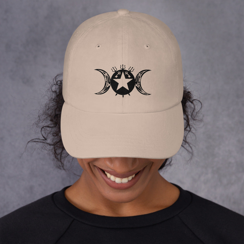 Dad Style Hat Hekate/Hecate Exclusive Tribal Sigil! - BlackTreeBlueRaven