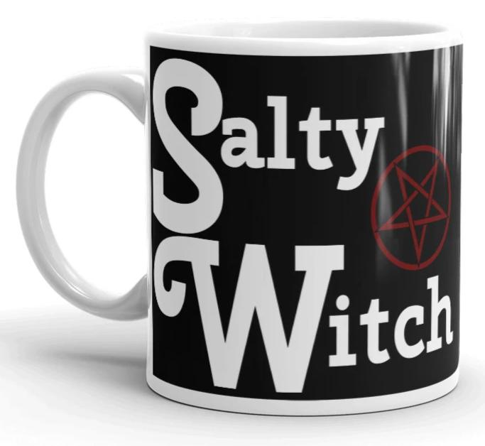 "11oz or 15oz Coffee or Tea Mug ""Salty Witch."" Great Gift! - BlackTreeBlueRaven"