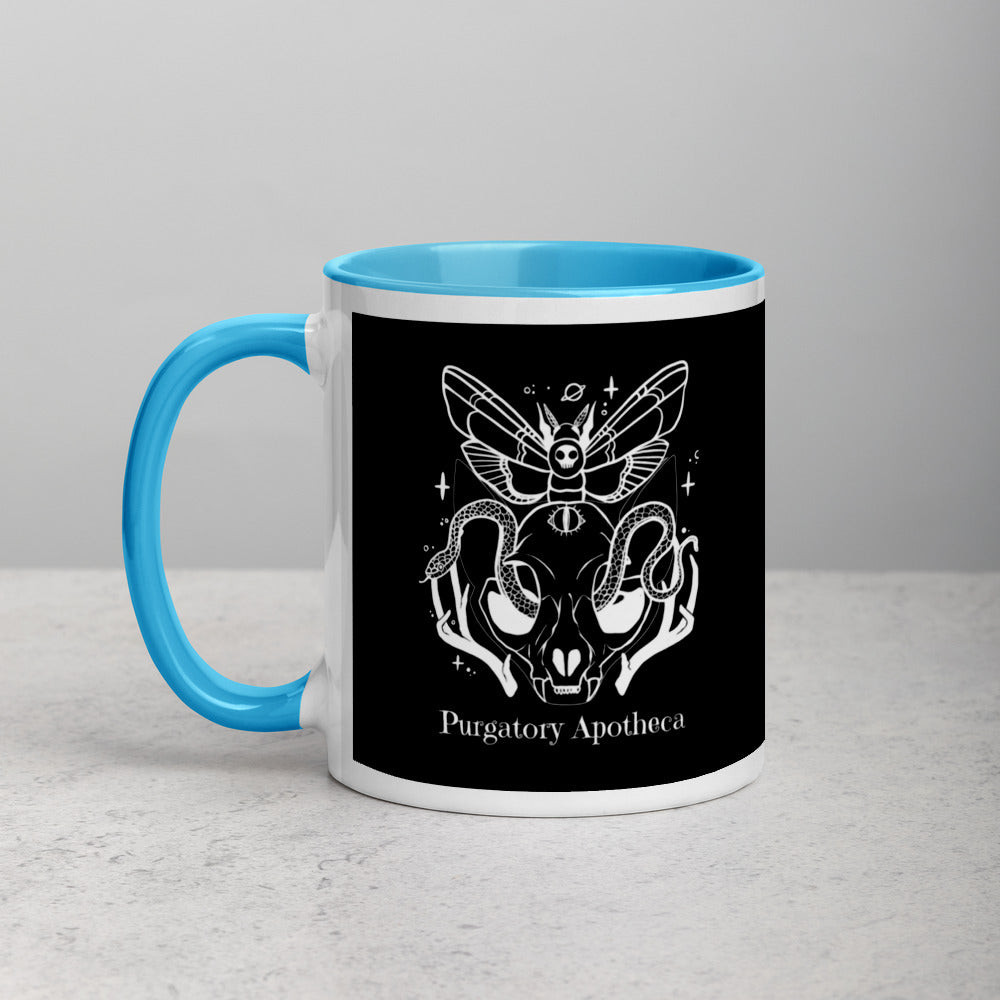 Purgatory Apothecary Mug with Color Blue Red Black or Yellow