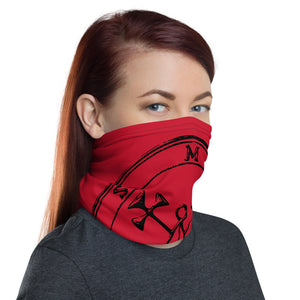 Sigil President Marbas Face Mask Cover Neck gaiter in Red and Black