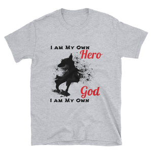 """Own Hero"" my ""Own God"" Graphic Tee shirt for Men Or Woman - BlackTreeBlueRaven"