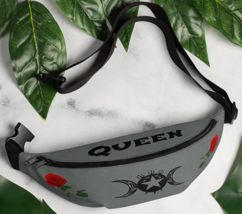 """Queen"" Tribal Hecate Symbol Goddess Rose Fanny Pack! - BlackTreeBlueRaven"