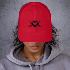 Trucker Cap for Hekate/Hecate Lovers Tribal Exclusive Sigil!! - BlackTreeBlueRaven