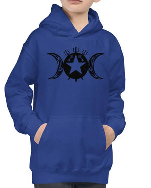 Kids Girls or Boys Hecate/Hekate Protection Tribal Seal Hoodie! - BlackTreeBlueRaven