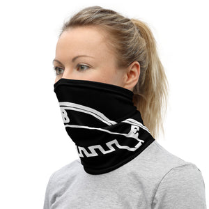 Belial Sigil Face Cover Washable In Black and White Neck Gaiter