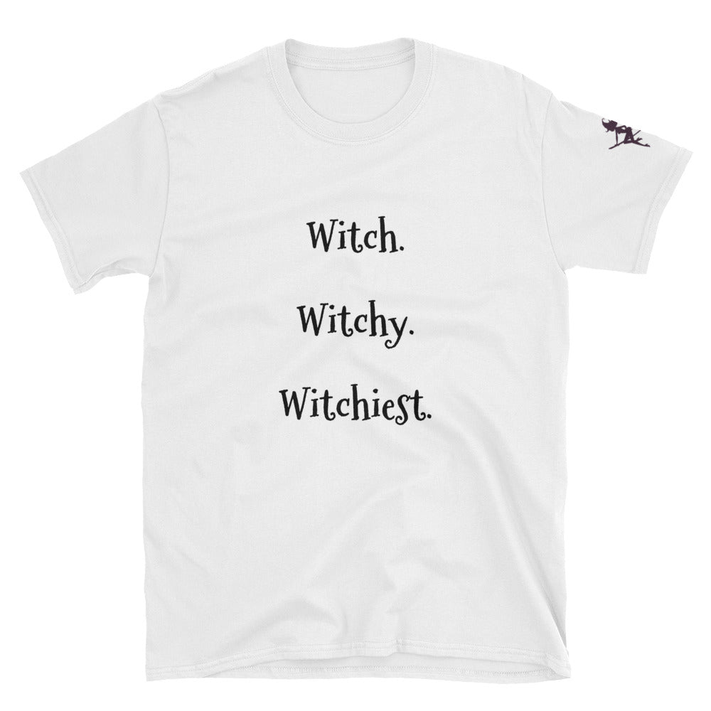 Witch. Witchy. Witchiest. tee shirt for Men or Woman - BlackTreeBlueRaven