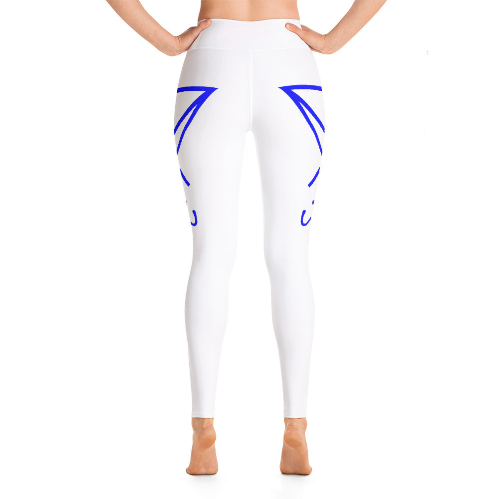 All White Tick Spotter Hiking/Exercising/Yoga Luciferian Leggings! - BlackTreeBlueRaven