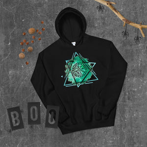 Vegvisir Runic Viking Compass Protection and Guidance Graphic Hoodie