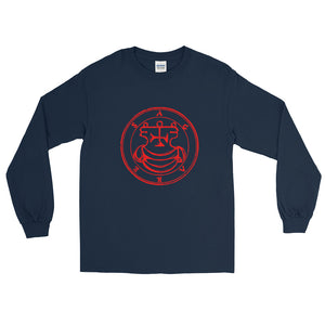 Agares Graphic Vintage Sigil Men's Long Sleeve Shirt