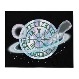 Viking Compass Original Design For Protection Throw Blanket