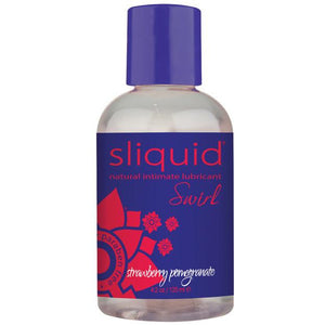 Sliquid Naturals Swirl Lubricant - 4.2 oz Strawberry Pomegranate
