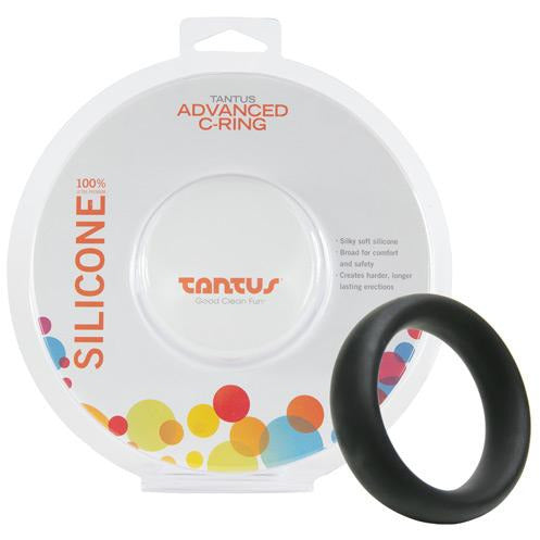 "Tantus 1 3/4"" Silicone Advanced Cock Ring - Black"