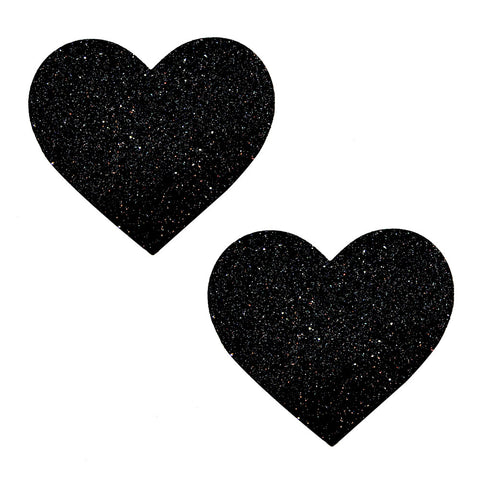 Pasties: Black Glitter Heart