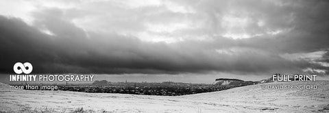 Edinburgh Skyline Winter Pano