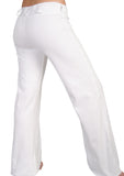 Womens Fitted White Capoeira Pants