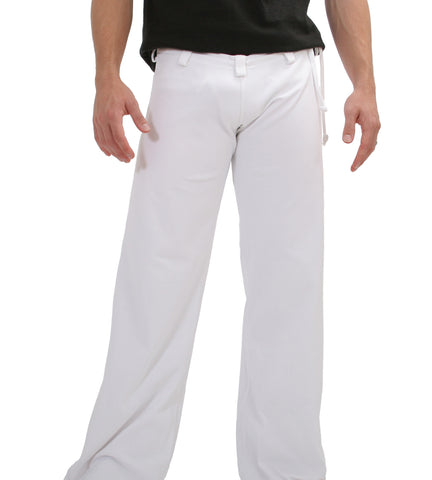 Mens White Capoeira Pants