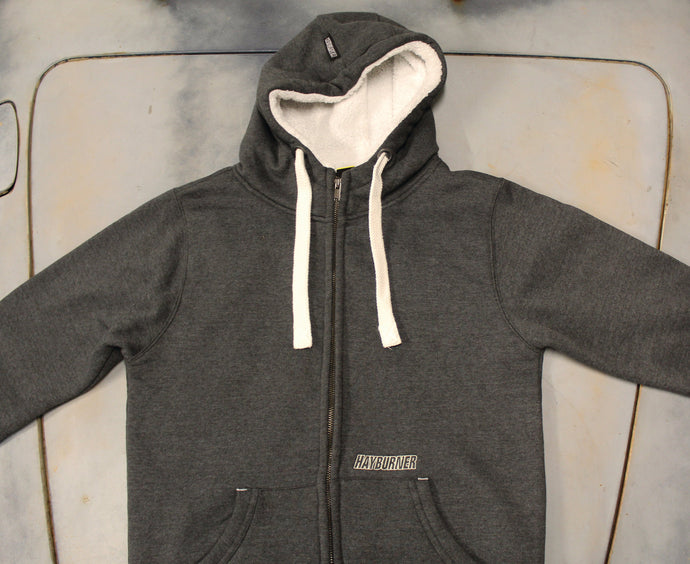 Deluxe Men's Zip Up with Sherpa Hood