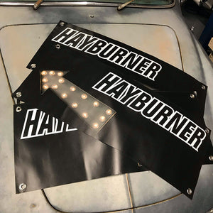 Small Hayburner Banner with Arrow