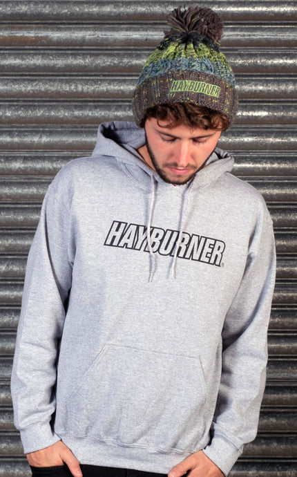 Heather Grey with black Logo Pullover Hoodie