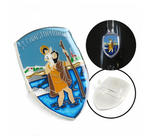 VW ST. CHRISTOPHORUS HOOD BADGE CREST SKU::319827