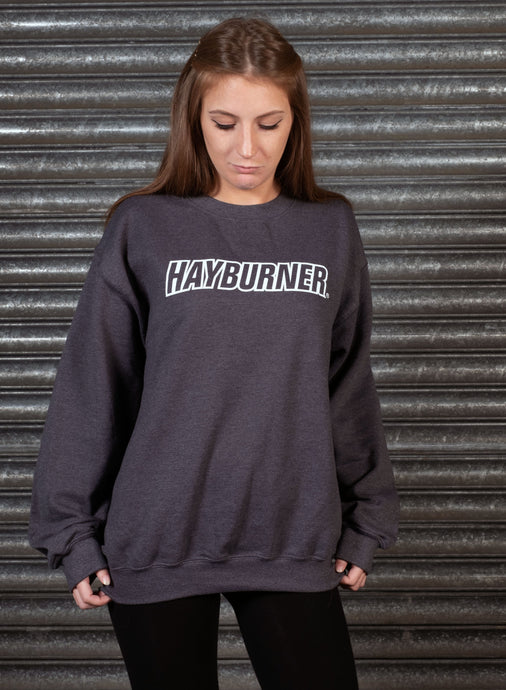 Dark Heather Grey with White Logo Sweatshirt