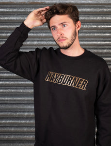 Black with Gold Logo Sweatshirt