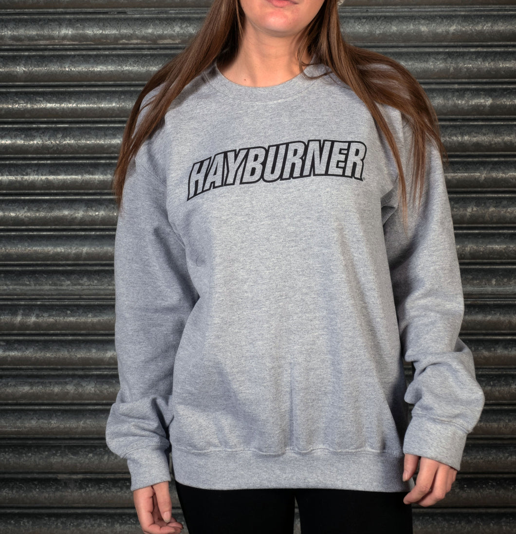 Heather Grey with Black Logo Sweatshirt
