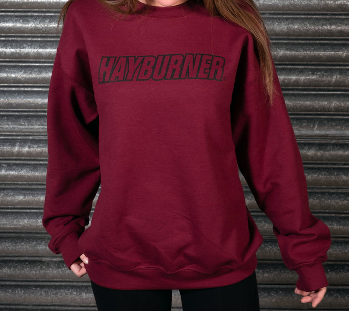 Burgundy with Black Logo Sweatshirt