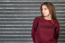 Load image into Gallery viewer, Burgundy with Black Logo Sweatshirt