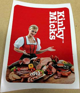 German Meat' Sticker No.15