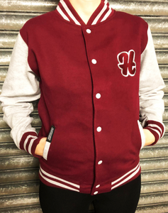 *NEW* College Burgundy/Grey Jacket
