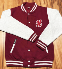 Load image into Gallery viewer, *NEW* College Burgundy/Grey Jacket
