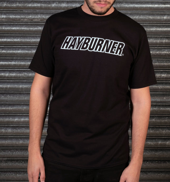 Black With White Logo 'Classic' T-shirt