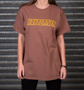 Brown With Yellow Logo 'Classic' T-Shirt