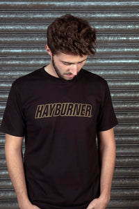 Black With Gold Logo 'Classic' T-Shirt