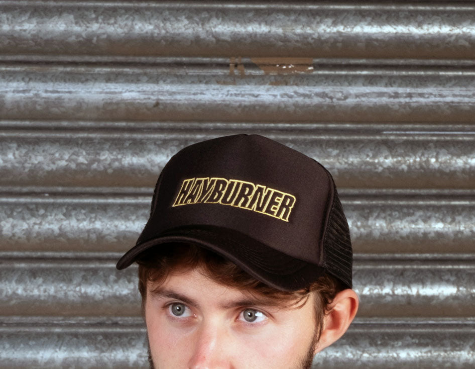 All black Trucker Cap with Gold Logo