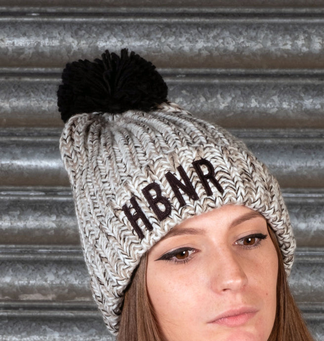 Deluxe Grey HBNR Wooly Hat