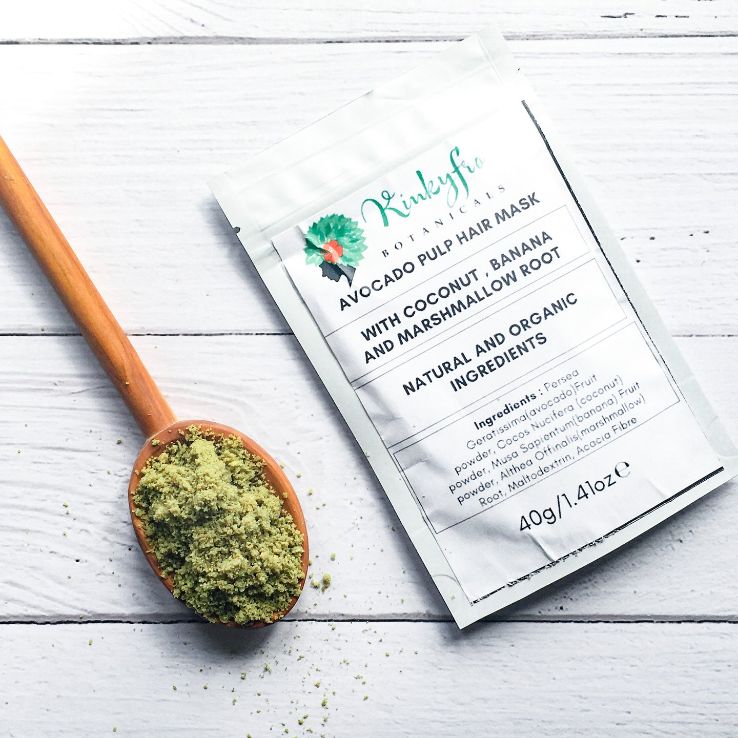 Moisturise and Restore Avocado Pulp Powder Hair Mask