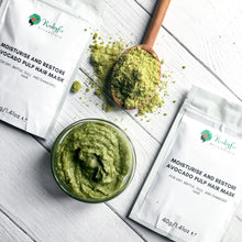 Load image into Gallery viewer, Moisturise and Restore Avocado Pulp Powder Hair Mask