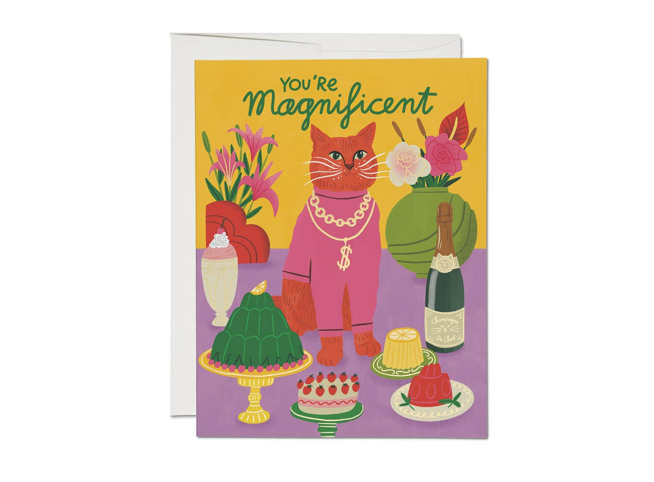 Red Cap Cards - Magnificent Cat