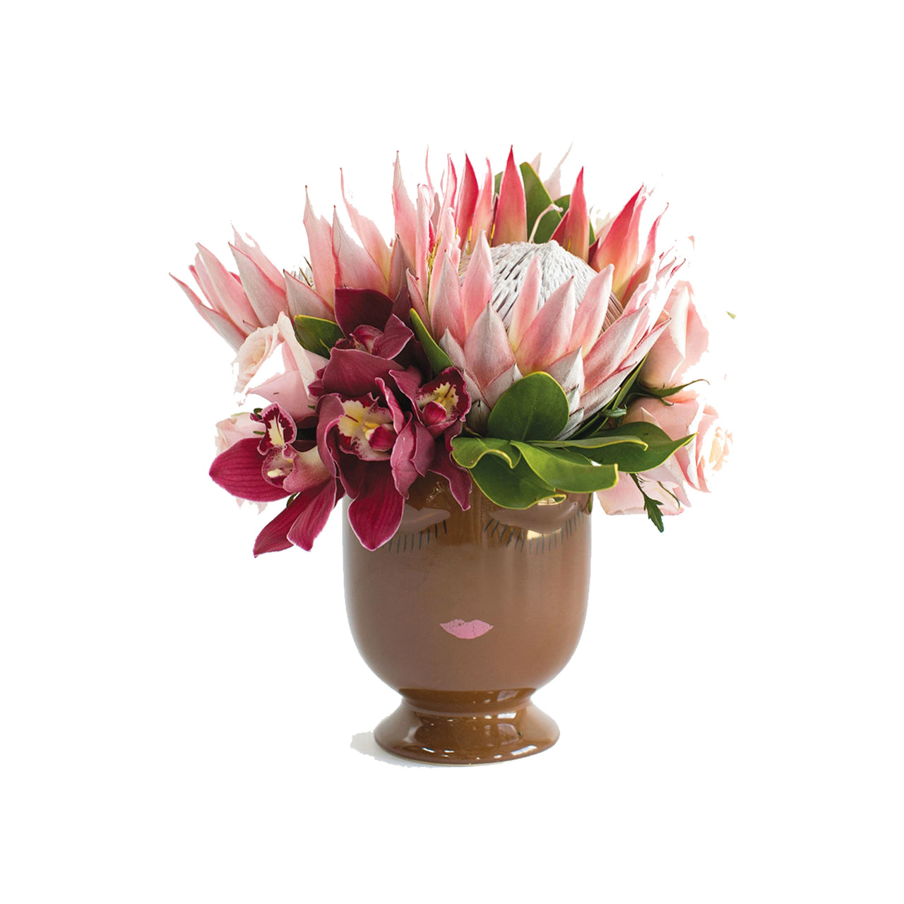 Large Selfie Vase Chocolate