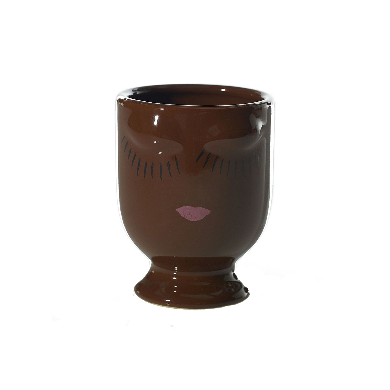 Small Selfie Vase Chocolate