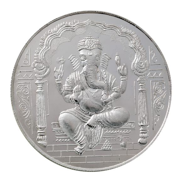 100 Gram Ganesh Silver Coin (999 Purity)